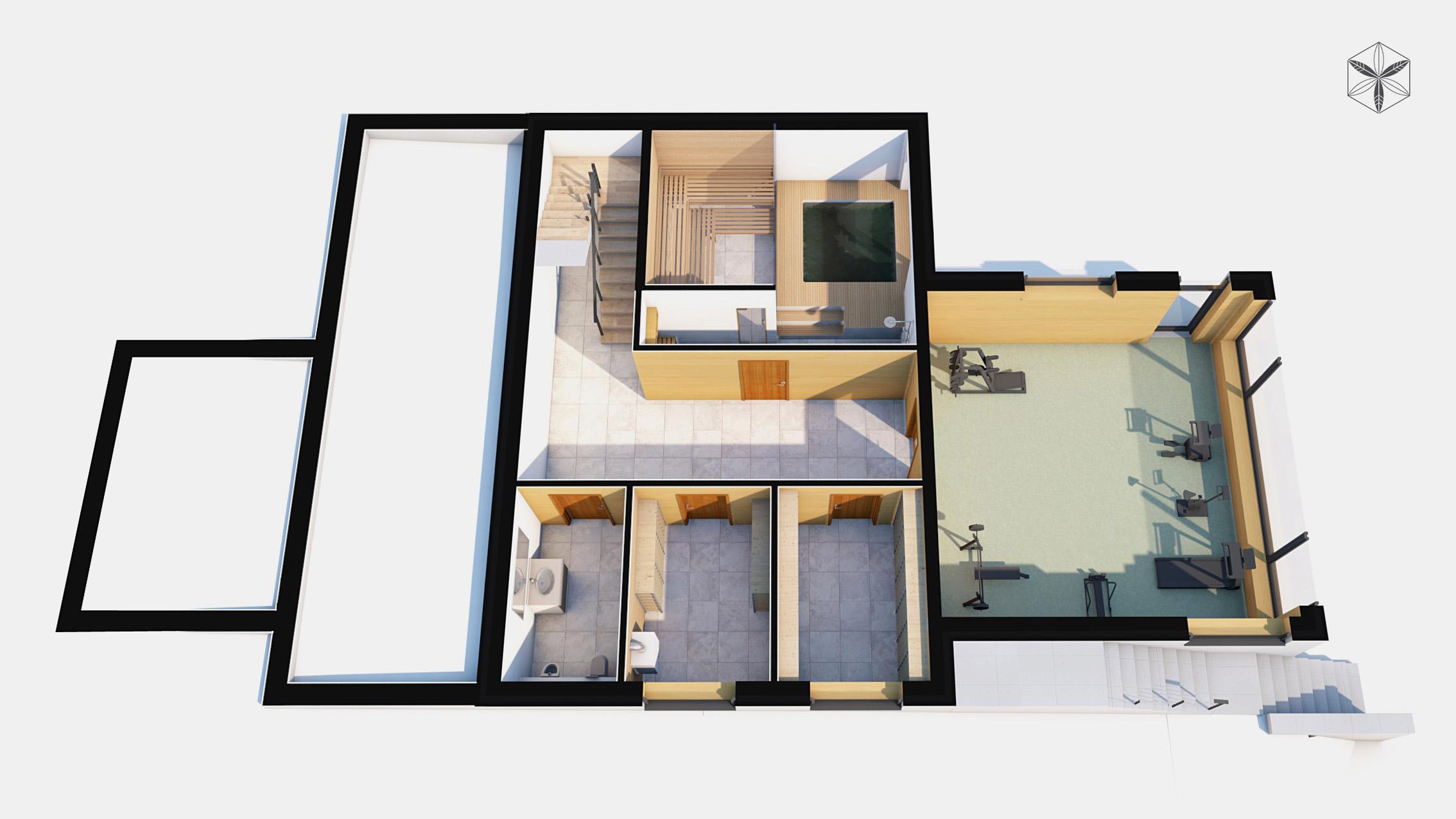 Изображение для проекта Проект коттеджа в стиле органичный модерн 1748