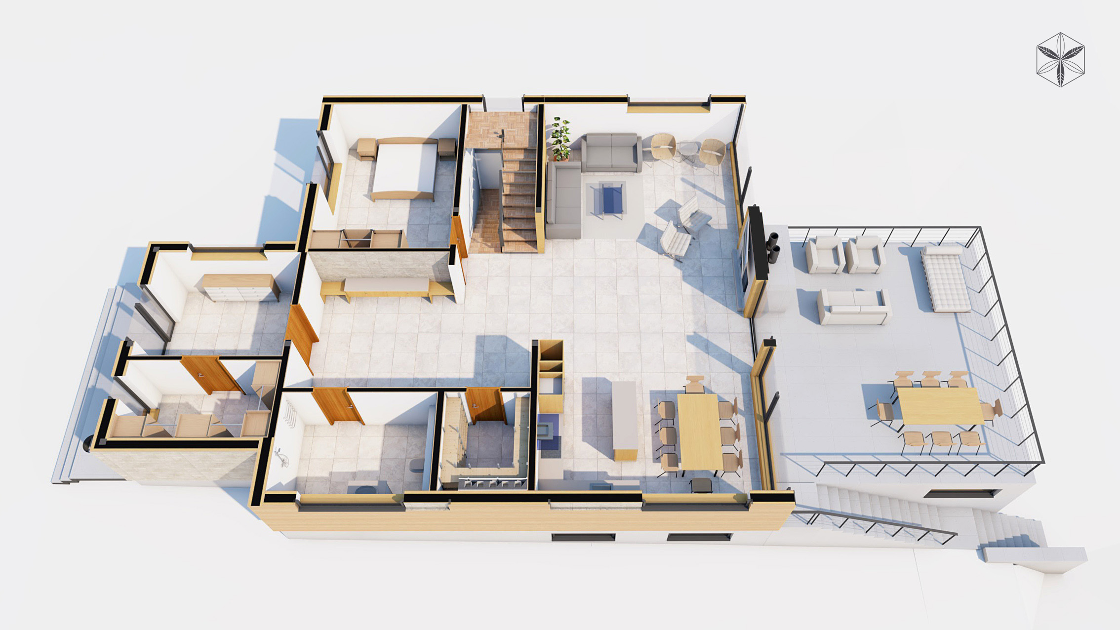 Изображение для проекта Проект коттеджа в стиле органичный модерн 1749