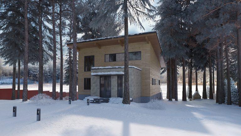 Проект дома в стиле органичный модерн