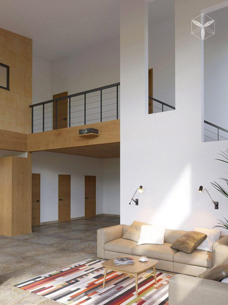 интерьер дома в стиле органичный модерн