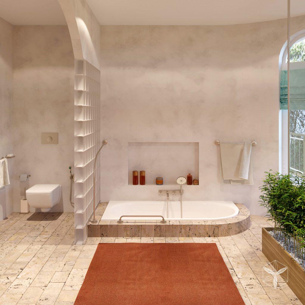 Интерьер ванной в черноморском стиле