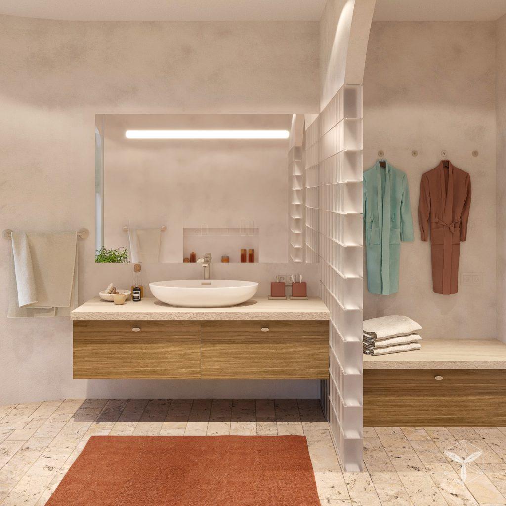 Интерьер ванной в средиземноморском стиле