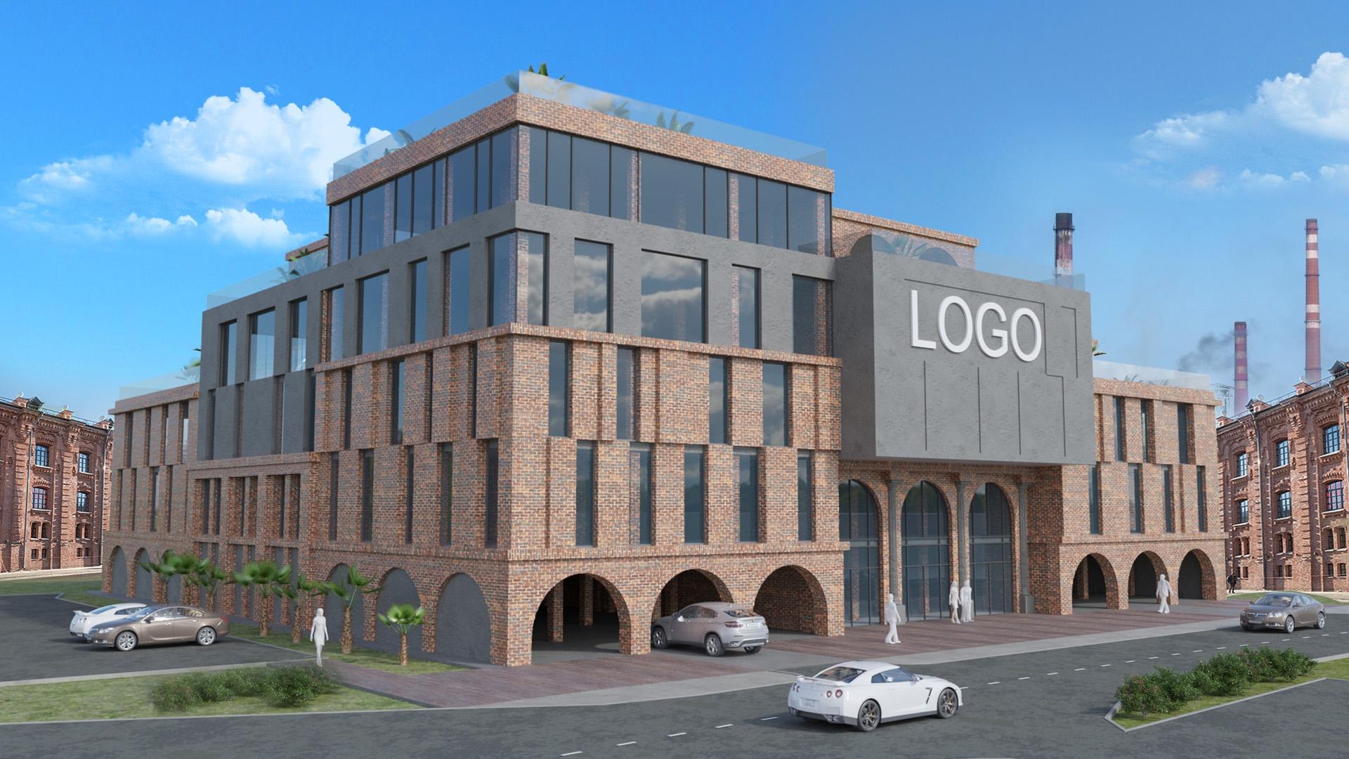 Изображение для проекта Концепт бизнес центра в промзоне 2101