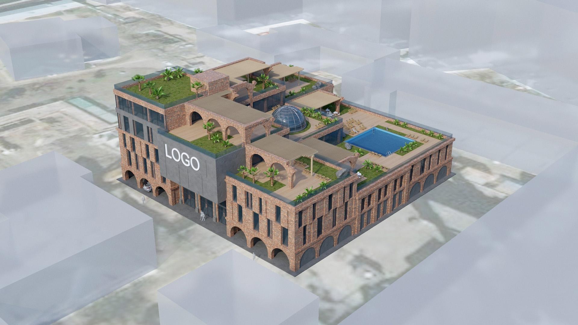 Изображение для проекта Концепт бизнес центра в промзоне 2102