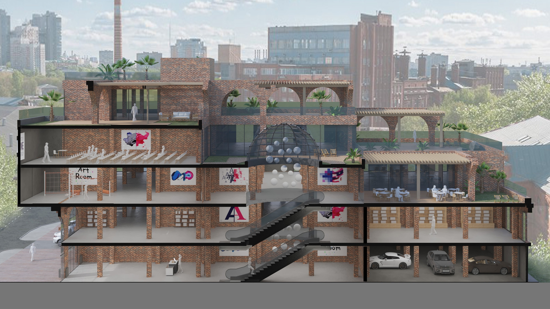 Изображение для проекта Концепт бизнес центра в промзоне 2103