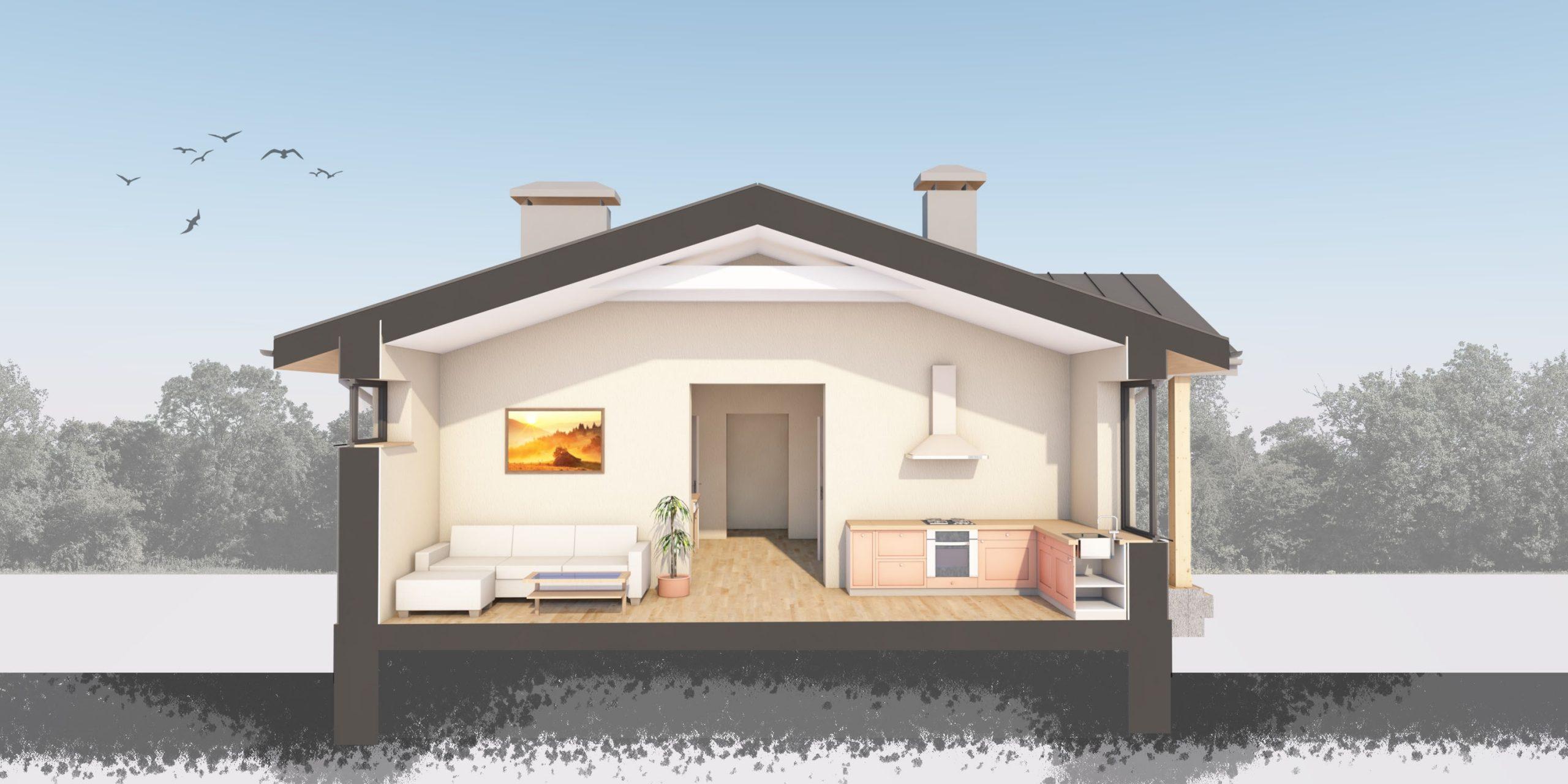 Изображение для проекта Проект небольшого дома по Васту и Фэншуй 1782