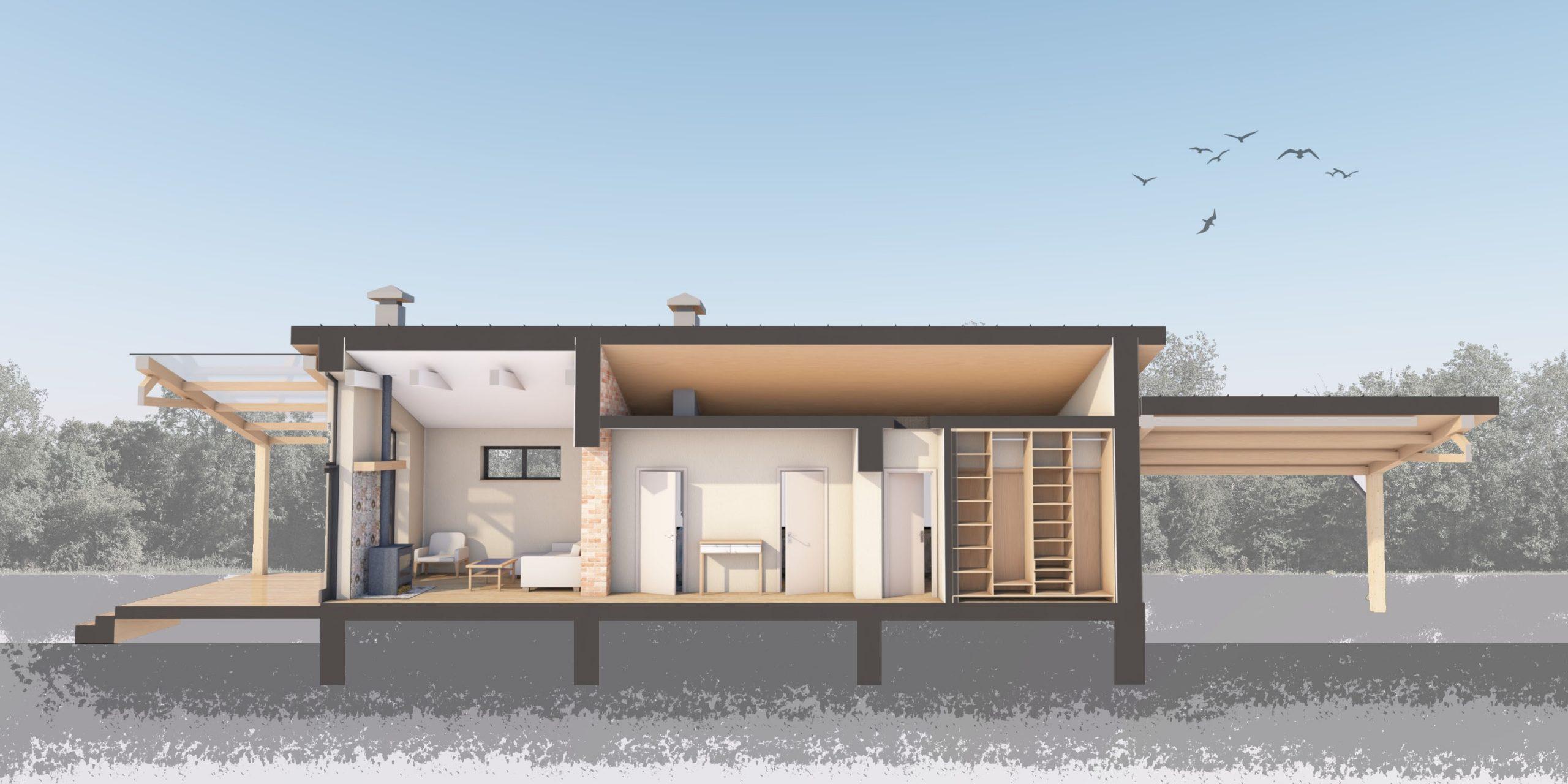 Изображение для проекта Проект небольшого дома по Васту и Фэншуй 1783