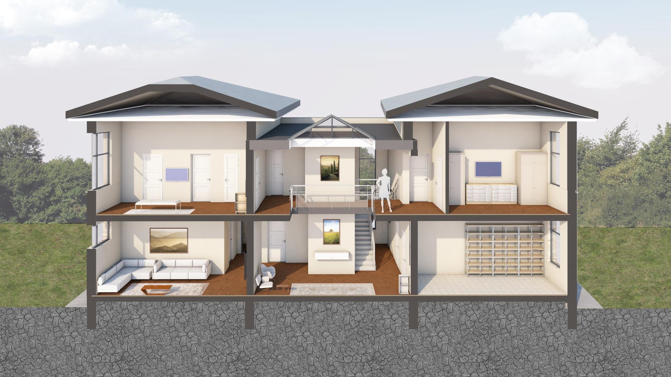 Изображение для проекта Проект современного особняка в Бишкеке 2047