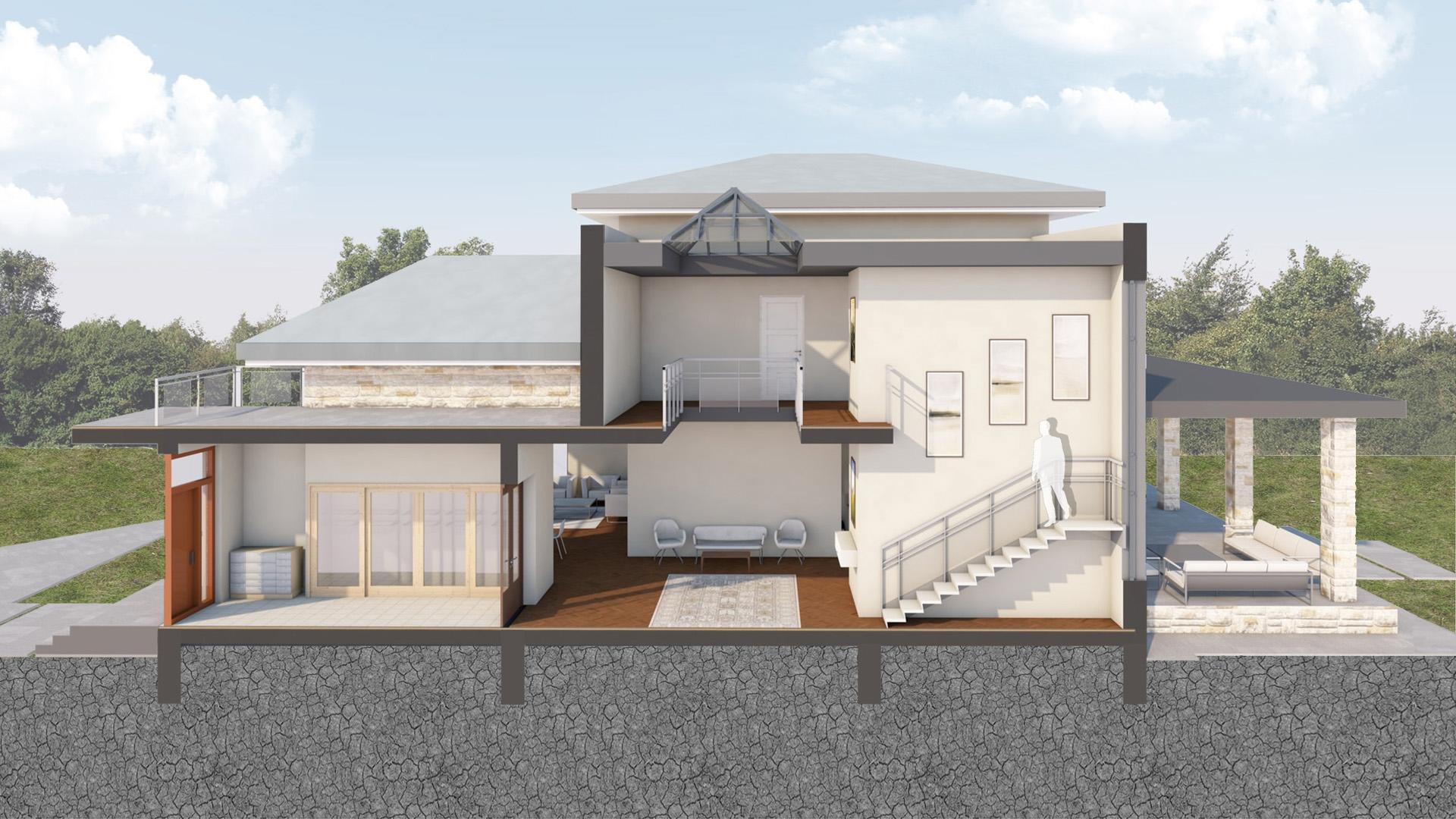 Изображение для проекта Проект современного особняка в Бишкеке 2048