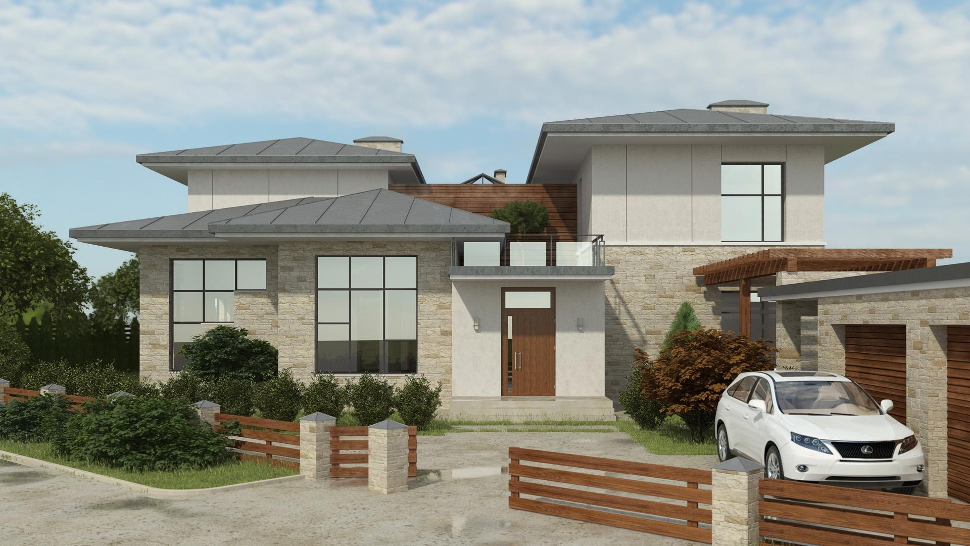 Изображение для проекта Проект современного особняка в Бишкеке 2040