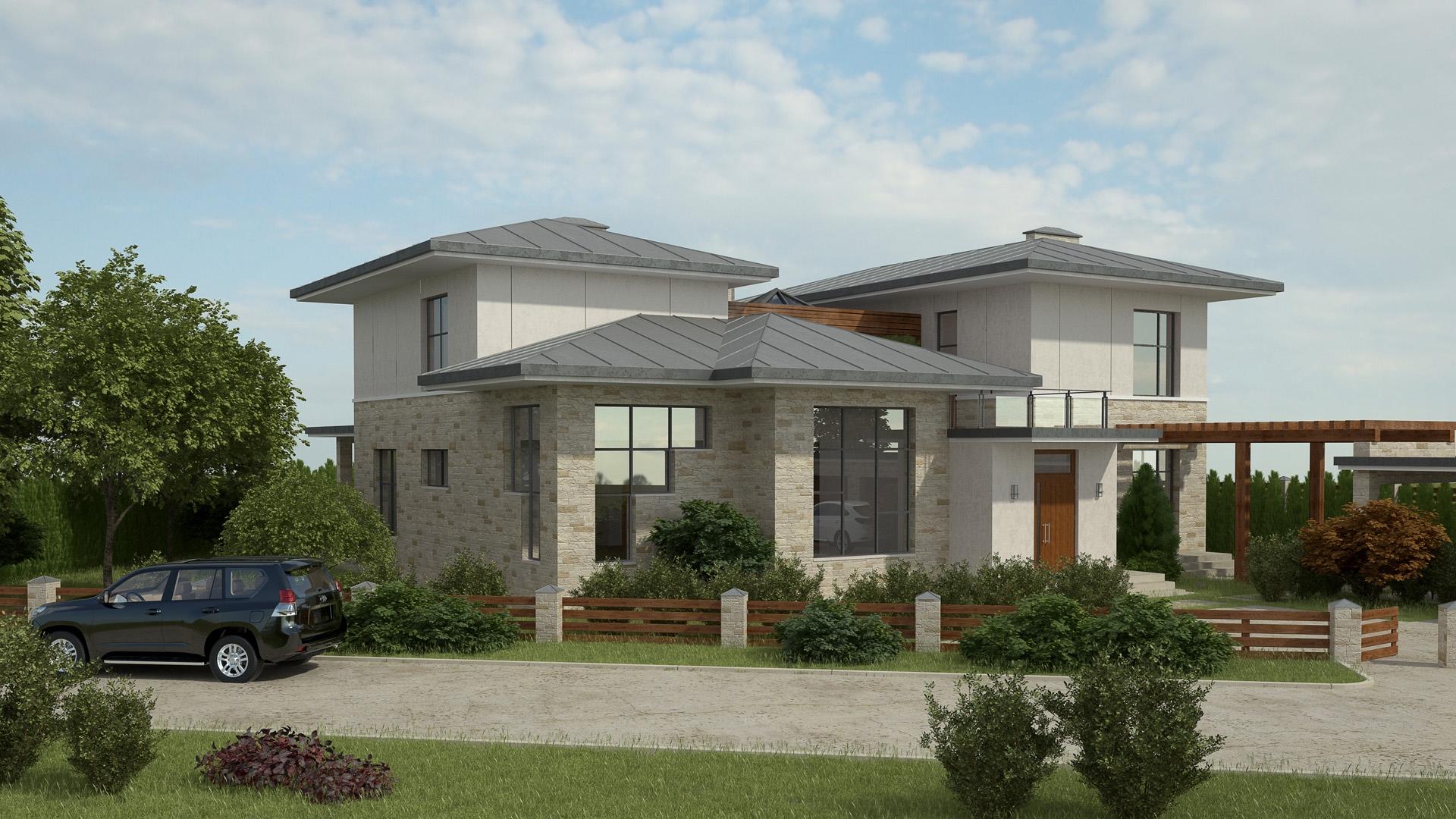 Изображение для проекта Проект современного особняка в Бишкеке 2041