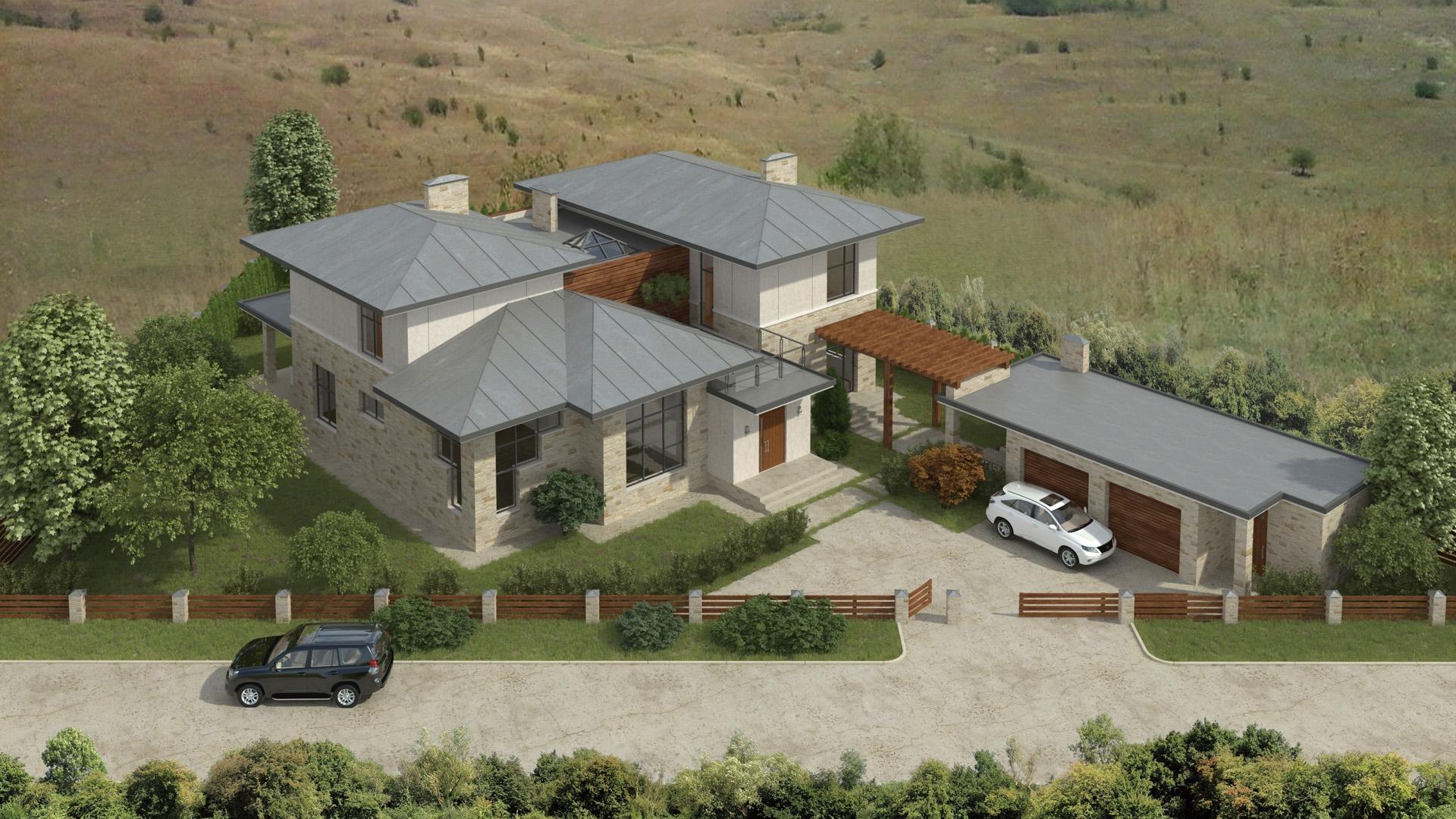 Изображение для проекта Проект современного особняка в Бишкеке 2042