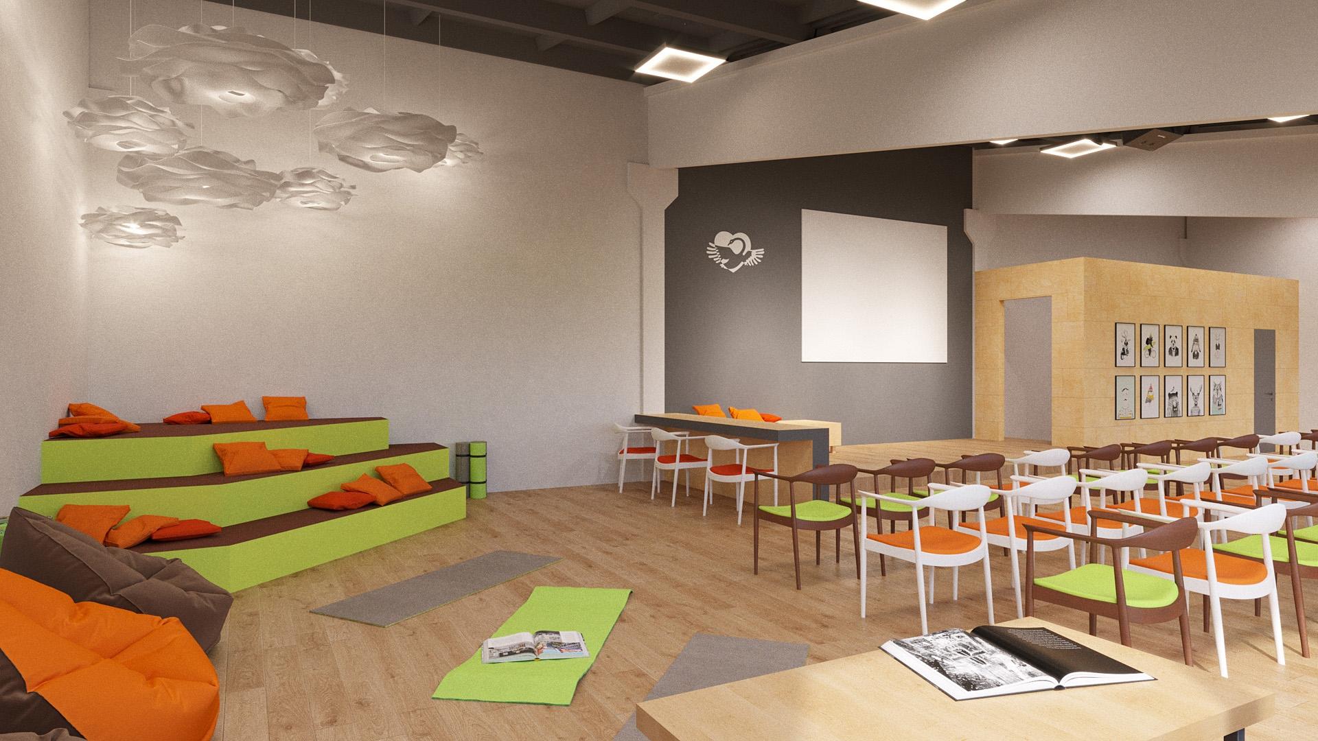 Изображение для проекта Учебный зал центра гуманной педагогики в Грузии 2023