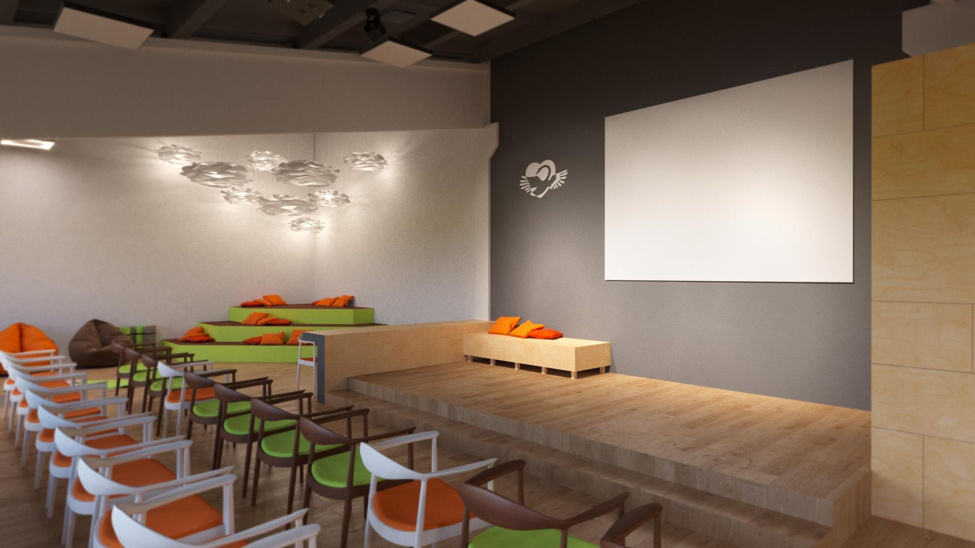Изображение для проекта Учебный зал центра гуманной педагогики в Грузии 2033