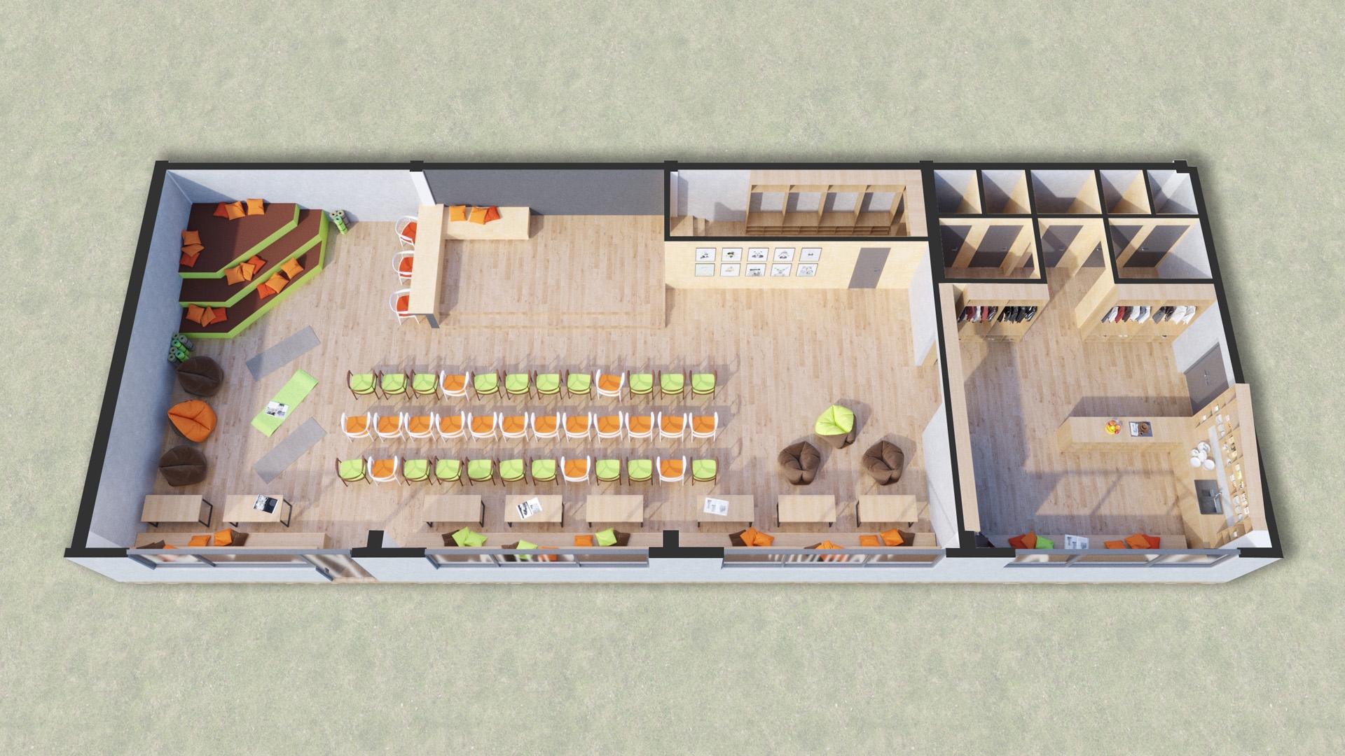 Изображение для проекта Учебный зал центра гуманной педагогики в Грузии 2028