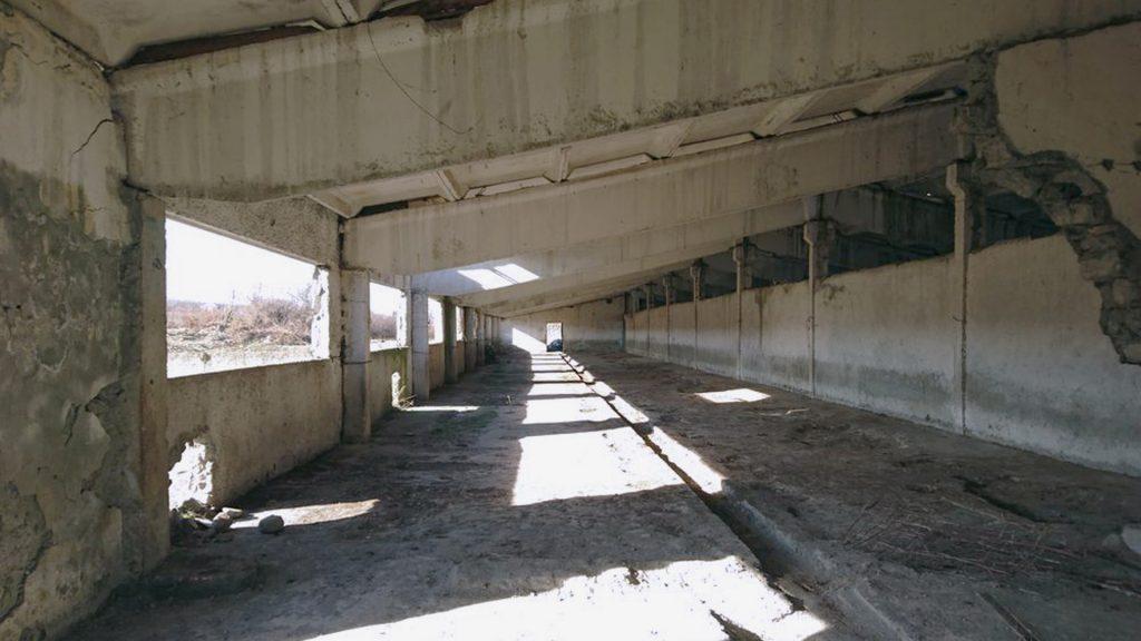 """Фото бетонной """"сороконожки"""" изнутри"""