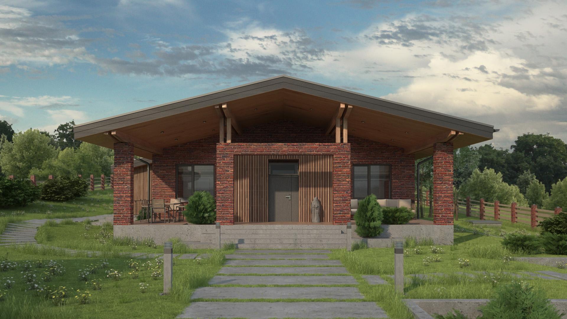 Изображение для проекта Проект кирпичного жилого дома «Каменные Ворота» 2158