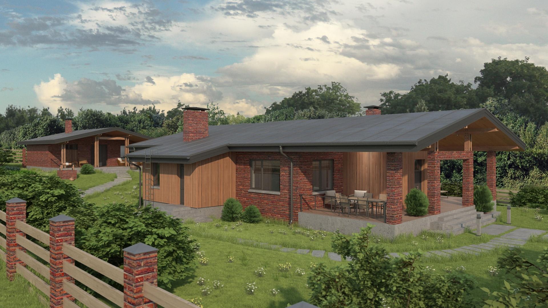 Изображение для проекта Проект кирпичного жилого дома «Каменные Ворота» 2159