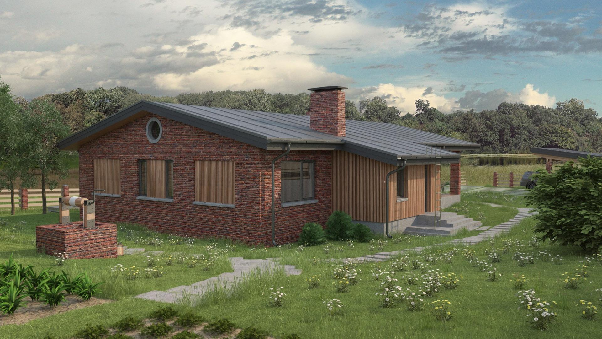 Изображение для проекта Проект кирпичного жилого дома «Каменные Ворота» 2160