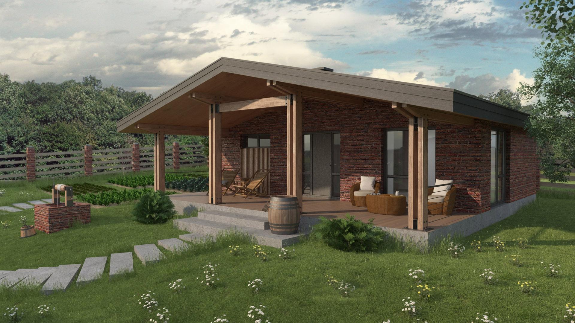 Изображение для проекта Проект кирпичного жилого дома «Каменные Ворота» 2161