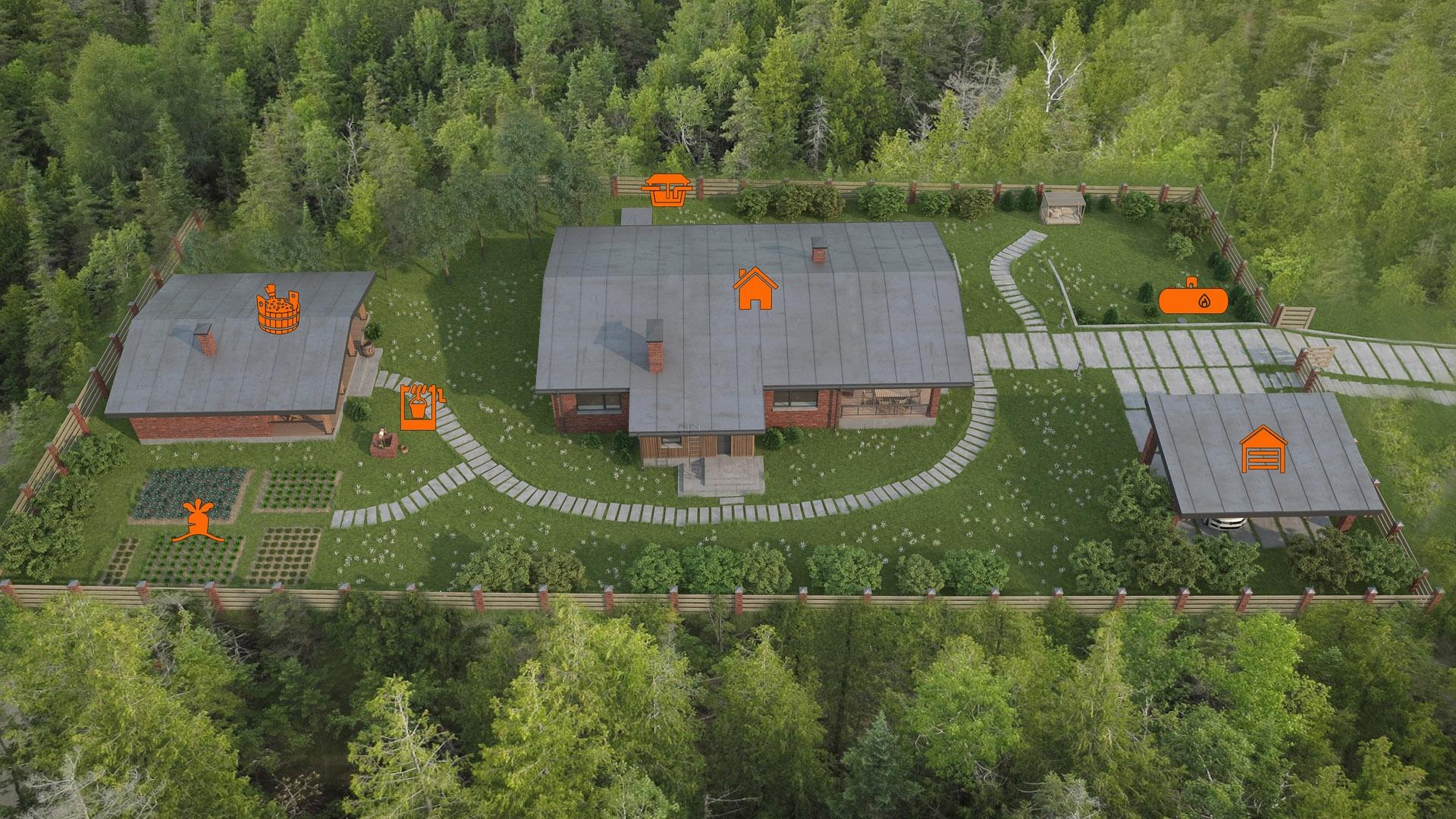Изображение для проекта Проект кирпичного жилого дома «Каменные Ворота» 2162
