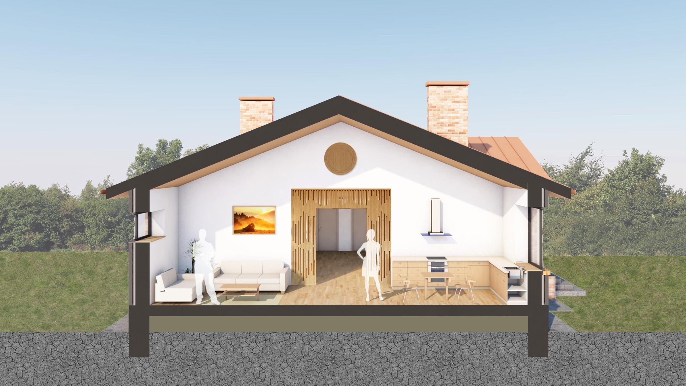 Изображение для проекта Проект кирпичного дома для музыканта 2155