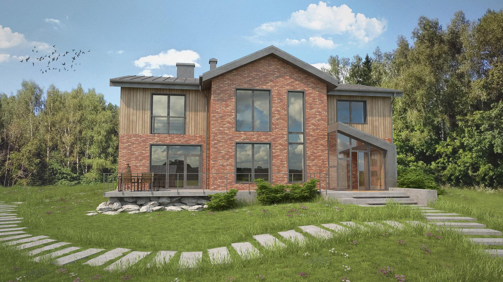 Изображение для проекта Современное поместье для большой семьи 2164