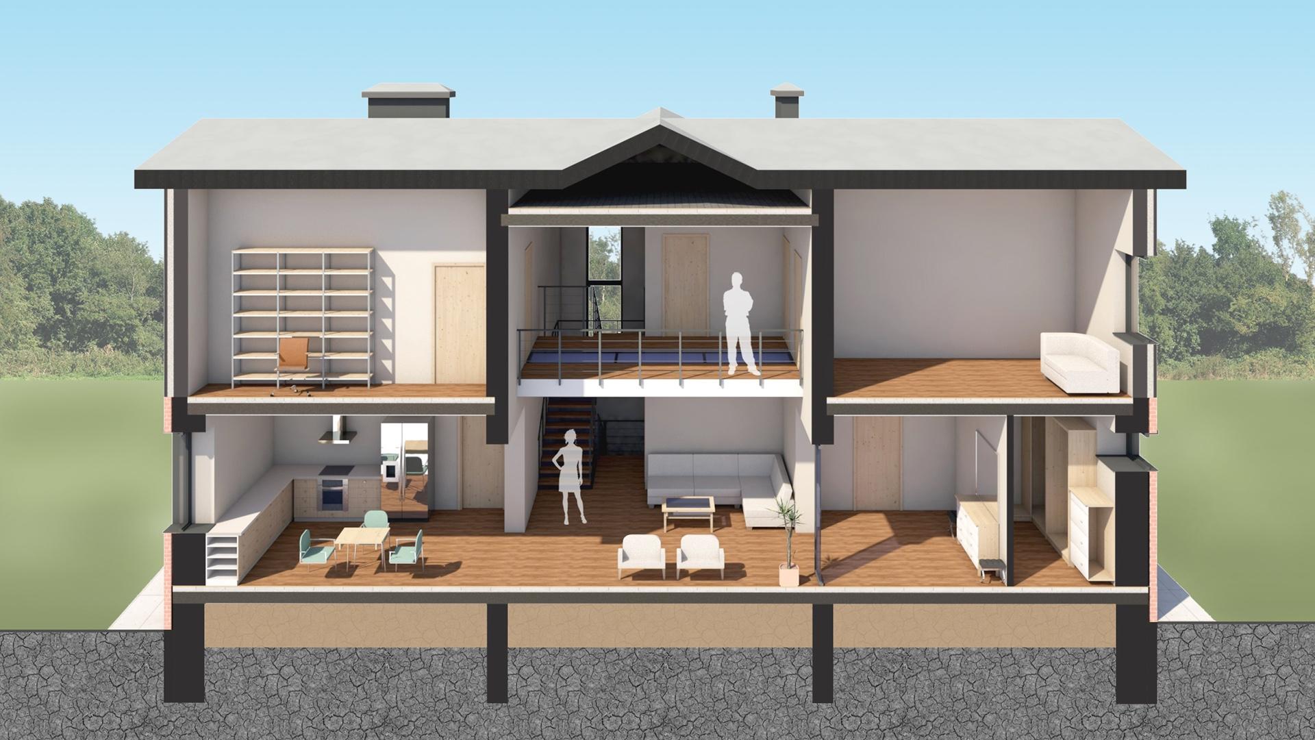 Изображение для проекта Современное поместье для большой семьи 2176