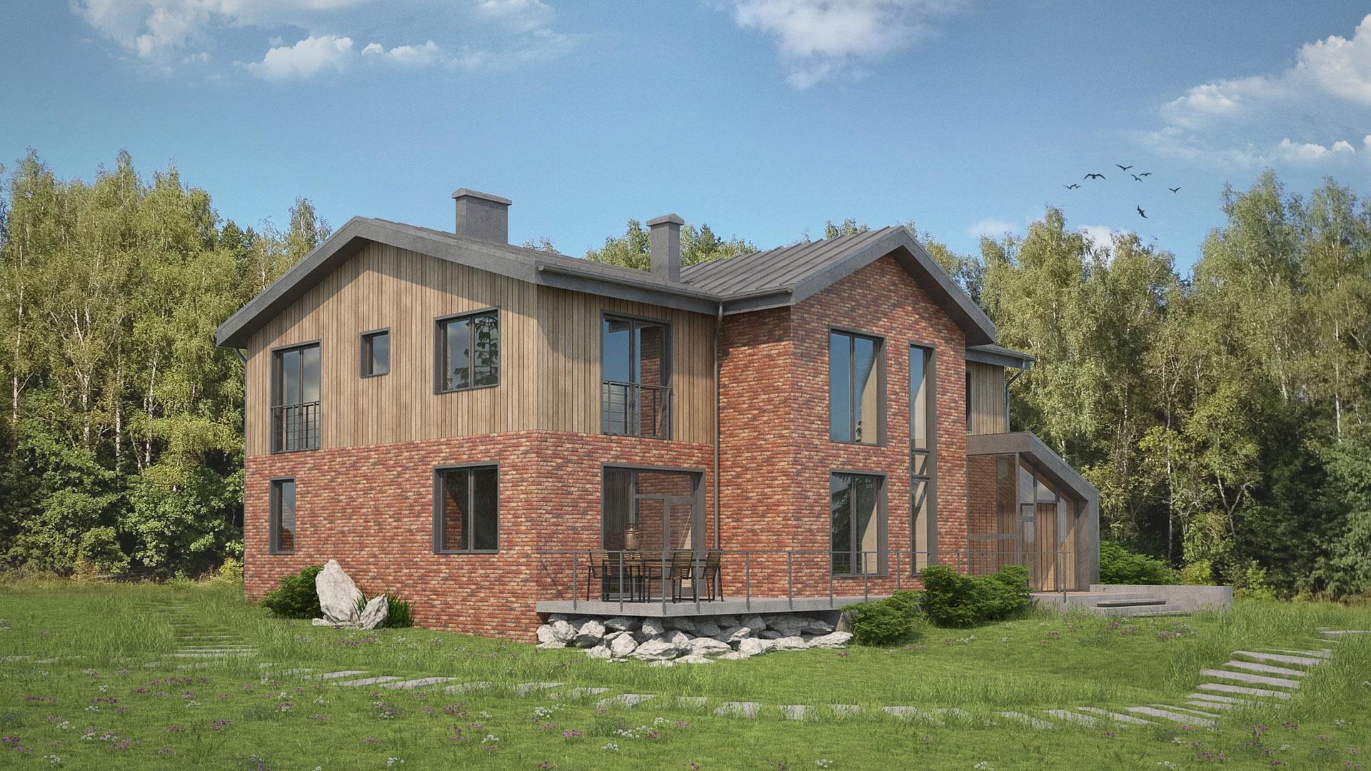Изображение для проекта Современное поместье для большой семьи 2165