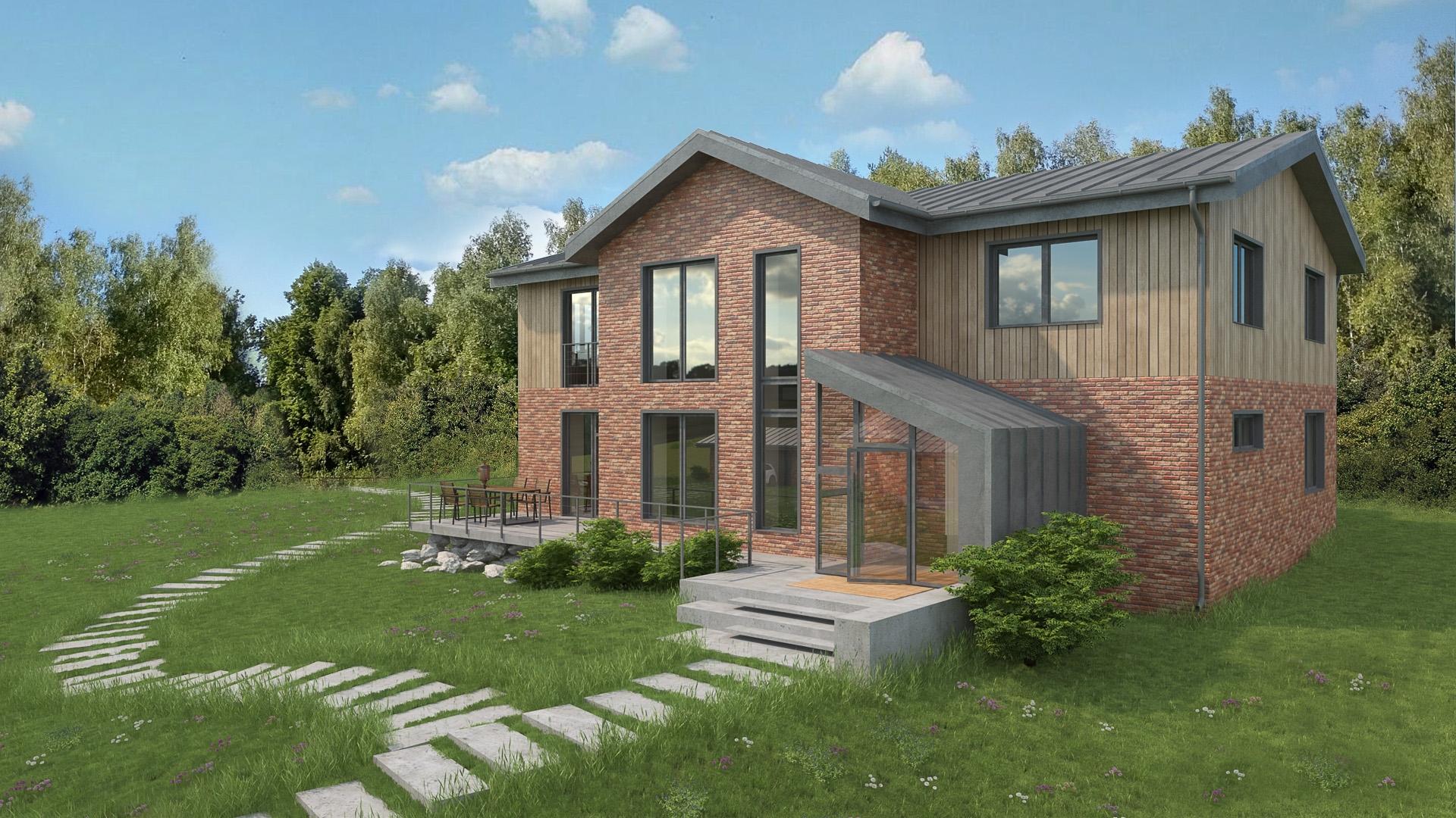 Изображение для проекта Современное поместье для большой семьи 2166