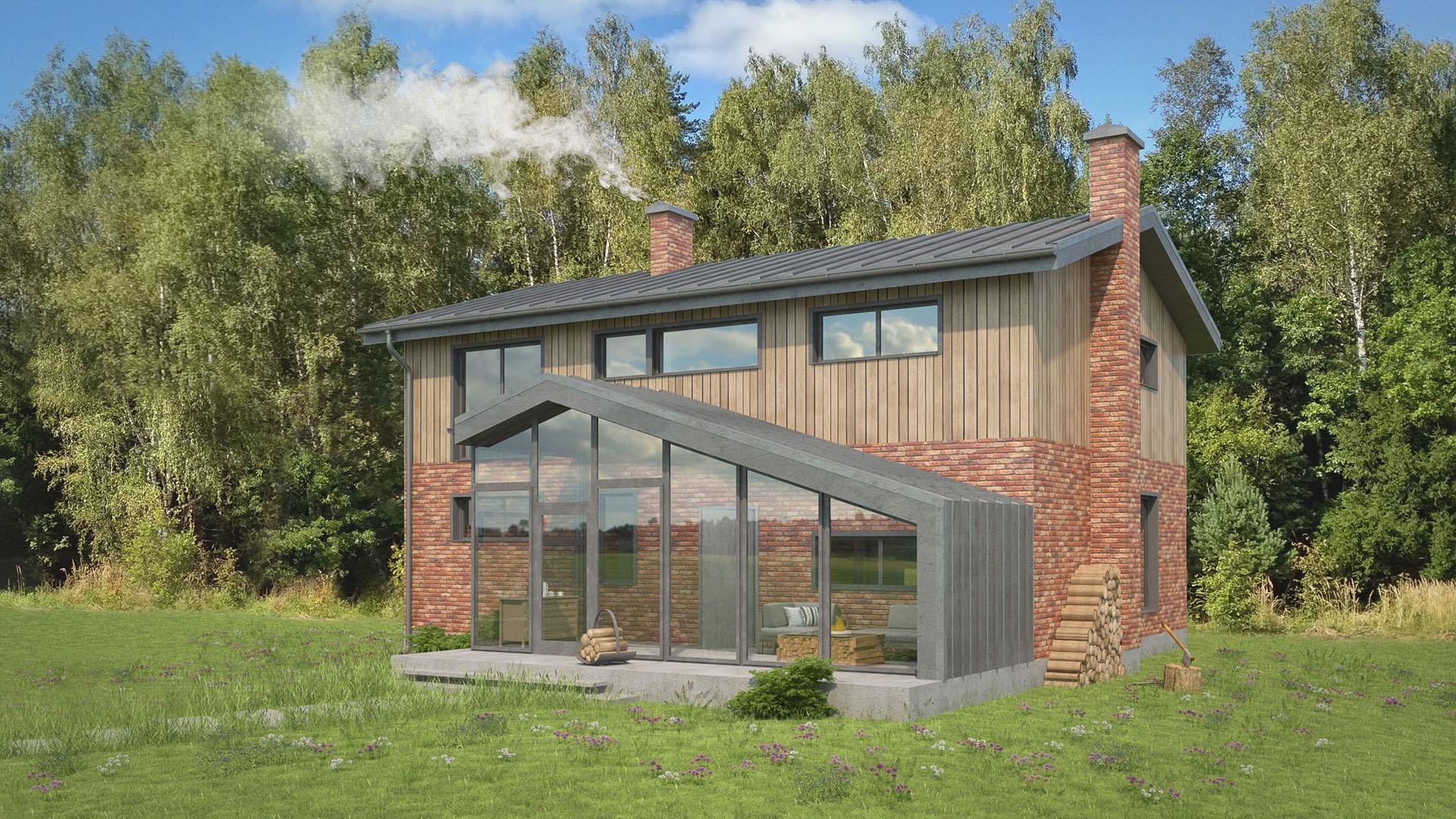 Изображение для проекта Современное поместье для большой семьи 2167