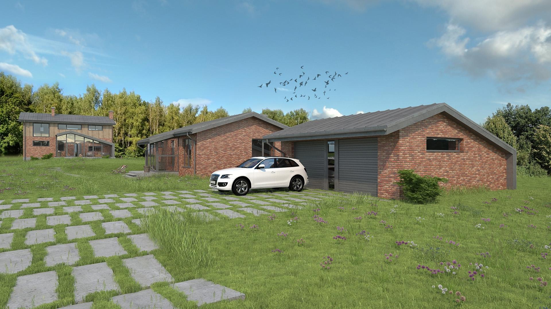 Изображение для проекта Современное поместье для большой семьи 2168