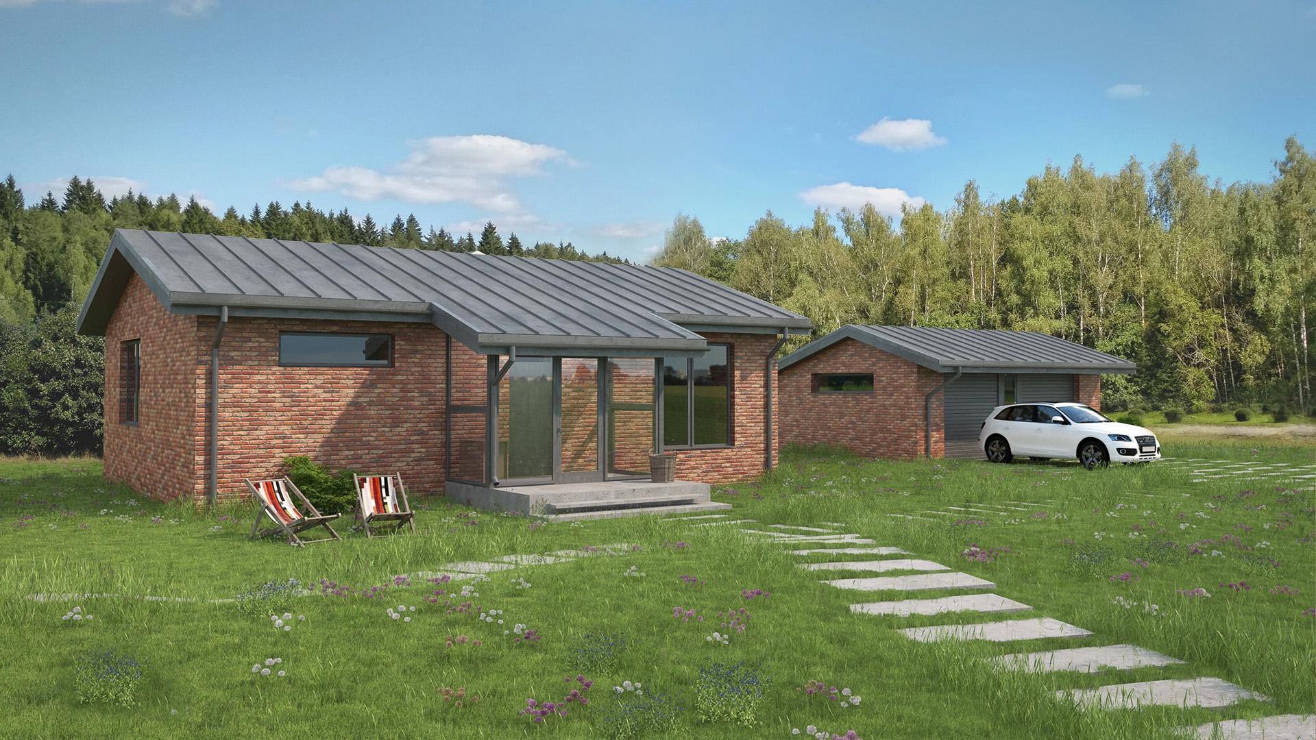 Изображение для проекта Современное поместье для большой семьи 2169