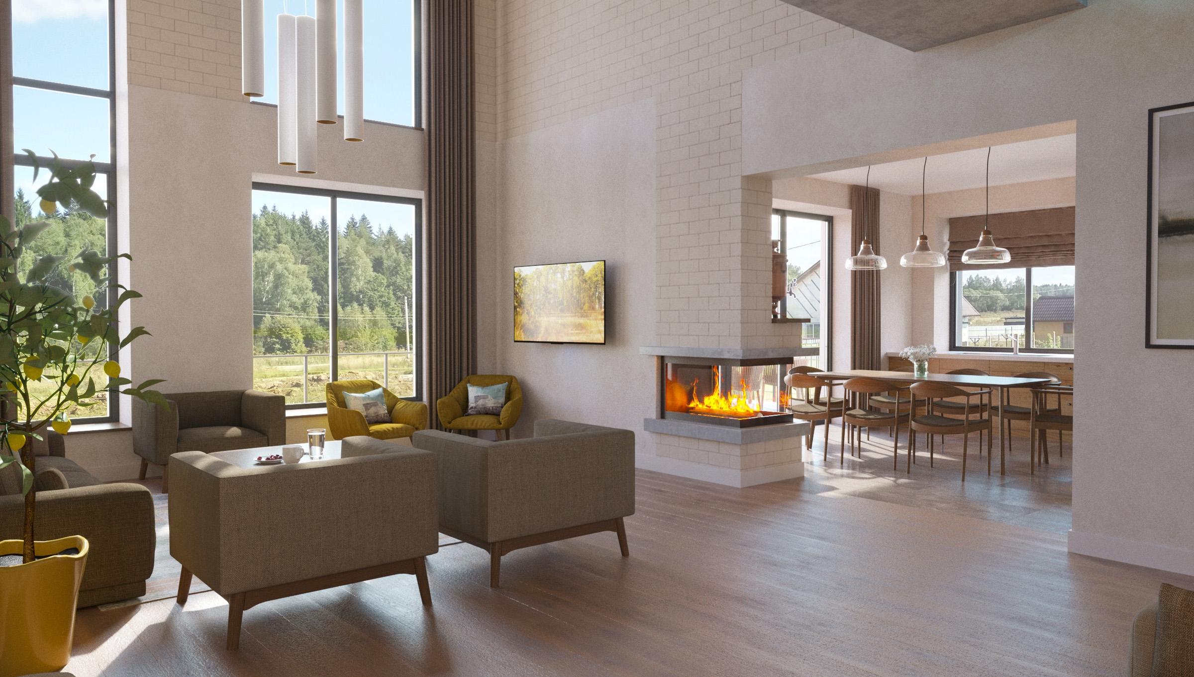 Изображение для проекта Современное поместье для большой семьи 2170