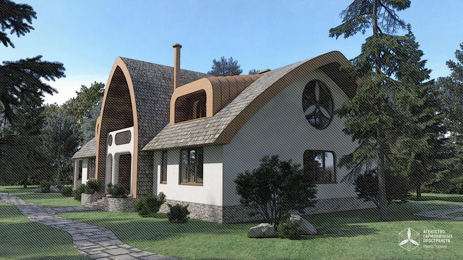 Изображение для проекта Усадьба из природных материалов в органическом стиле 2844