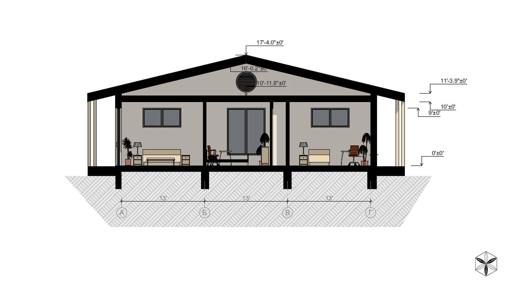 Изображение для проекта Каркасный дом с конопляным утеплителем во Флориде 2875