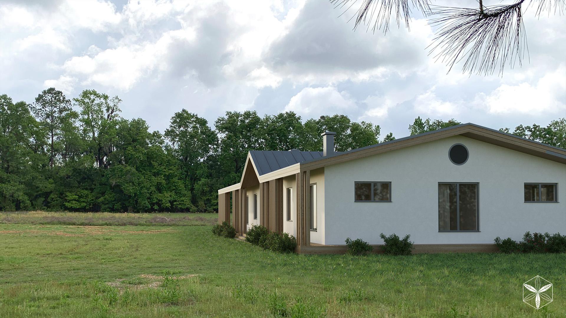Изображение для проекта Каркасный дом с конопляным утеплителем во Флориде 2870