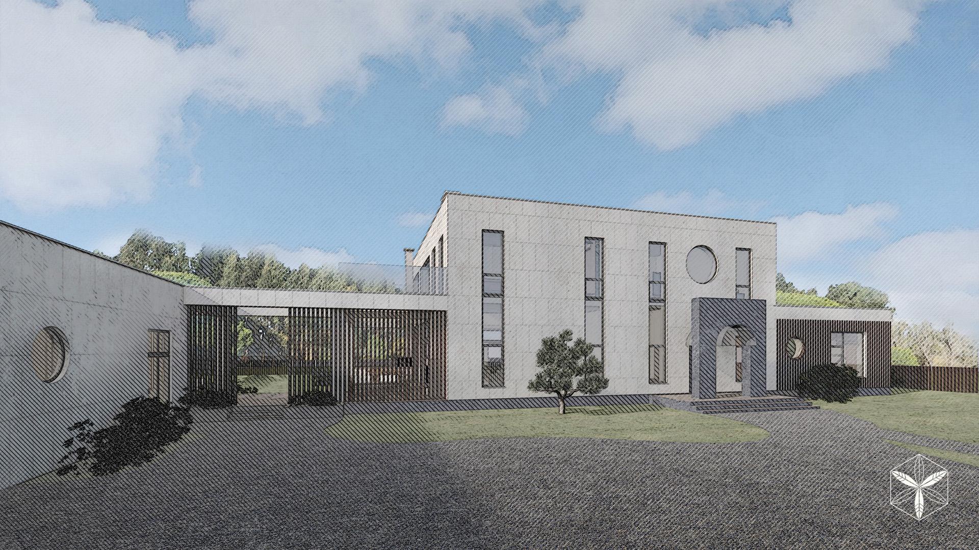 Изображение для проекта Проект особняка в Латвии в стиле модерн 2881