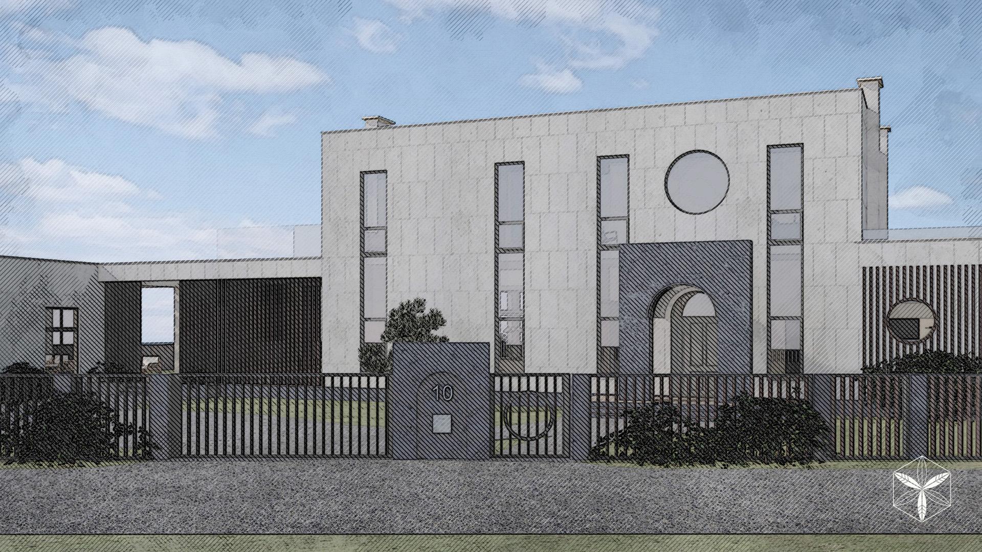 Изображение для проекта Проект особняка в Латвии в стиле модерн 2878