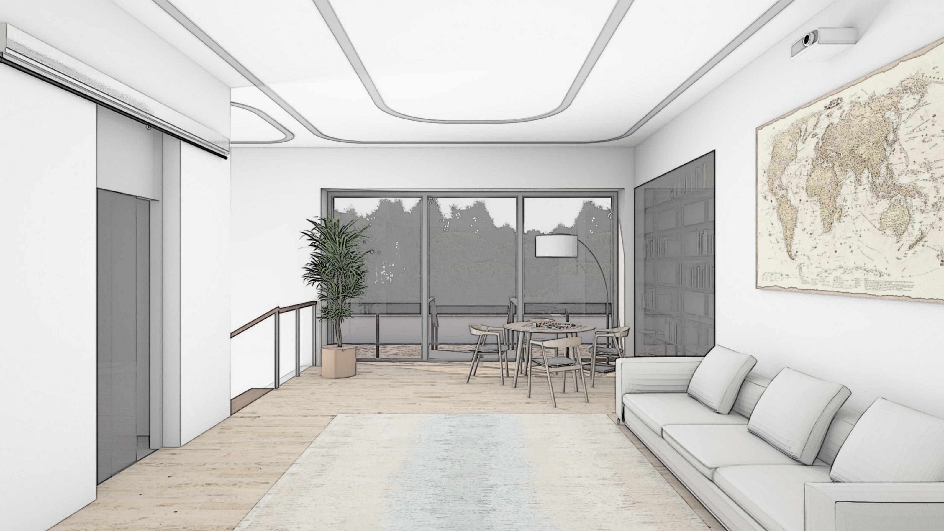 Изображение для проекта Проект особняка в Латвии в стиле модерн 2903