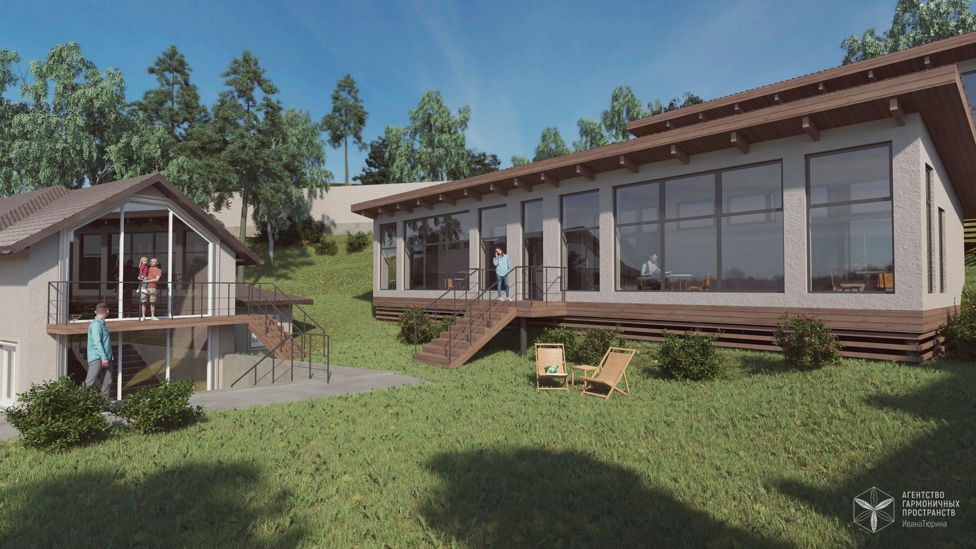 Изображение для проекта Проект гостевого комплекса в горном ущелье близ Алматы 3256